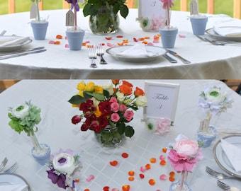 flower pen / guestbook pen / wedding pen / wedding decoration/handmade flower pen/ personalized label