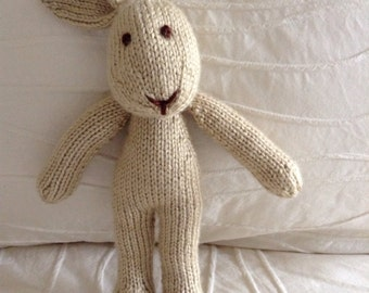 Stuffed Animal - Knitted Bunny - Photo Prop - Stuffed Bunny - Soft Toy - Handmade Toy