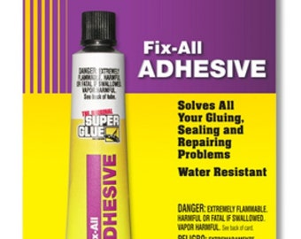 FIX ALL flexible Adhesive Glue seal & repair Rubber Vinyl Leather Shoe boot sole Wood Crafting water resistant craft yellow Super Glue