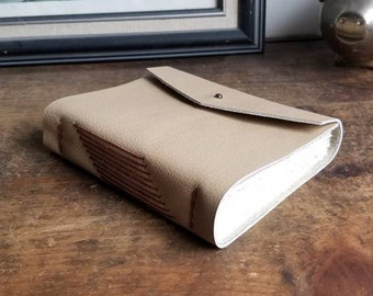 Handmade Leather Journal, Light Brown 4.75 x 6 Journal by The Orange Windmill on Etsy 1831