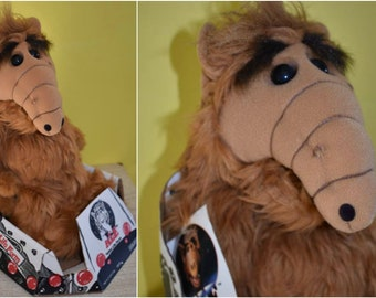 1986 Stuffed Alf Plush Doll Original Spaceship Box Original Tag NOS