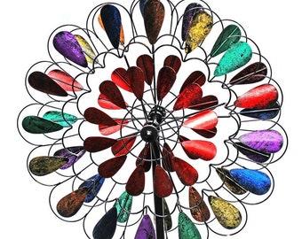Multicolored Garden Wind Spinner