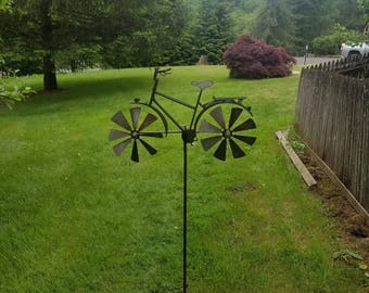 Bicycle Wind Spinner Dual Blade  Metal Kinetic Spinning Windmill USA