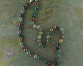 FANCY JASPER Chakra Necklace All Natural Semi-Precious Stones Healing Metaphysical