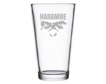 Harambe pint glass, Harambe meme, dicks out for Harambe, Take a shot for harambe, Harambe sticker, internet meme gifts, RIP, Harambe beer