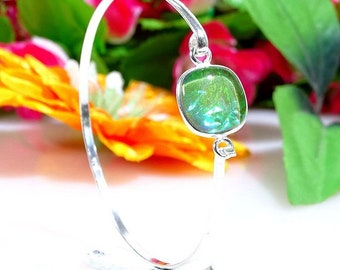 Australine triplet opal gemstone .925 plated silver cuff jewelry