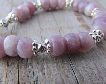 Lepidolite Bracelet purple lepidolite gemstone bracelet