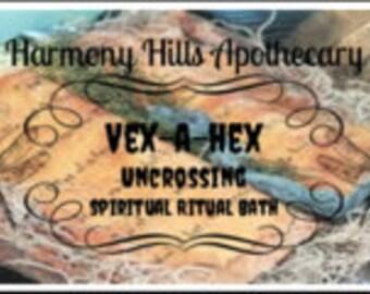VEX a HEX Therapeutic Bath Salts, Spiritual, Ritual, Relaxation. 5 ounces with bonus reusable cotton muslin bath tea bag.