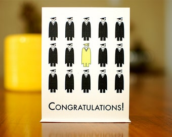 Pictograph Graduation Congratulations Card (100% Recycled Paper)