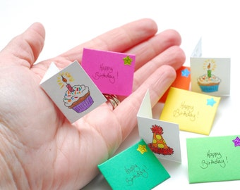 Tiny Birthday Card from the Tooth Fairy or Santa's Elf; customizable