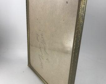 Vintage Goldtone Trim Metal 8 x 10 Picture Frame