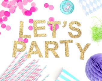 Let's Party Glitter Garland