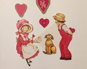 Vintage Valentine's Day Holly Hobbie Iron On Appliques -