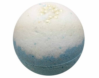 Beach Bath Bomb, Bath Fizzy, Handmade Spa Product, Epsom Salts, Hydrating Coconut Oil, Sensitive Skin, Great Gift for Her