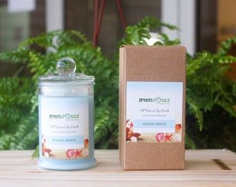 Seaside Breeze Scented Soy Candle