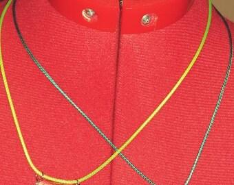 Custom Awareness Ribbon Resin Necklace