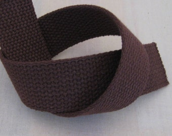 "Cotton Webbing 1 1/4"" Brown For Key Fobs Handbags Belts"