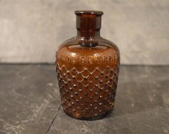 Victorian brown poison bottle