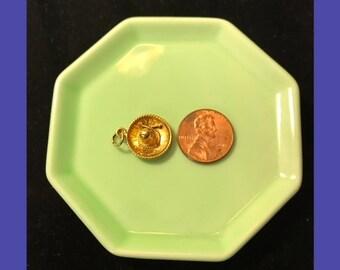 14K Yellow Gold Sombrero Charm/Sombrero Charm for Charm Bracelet/Gold Charm
