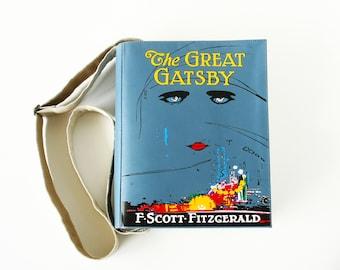 The Great Gatsby Book Bag F. Scott Fitzgerald Leather Book Purse