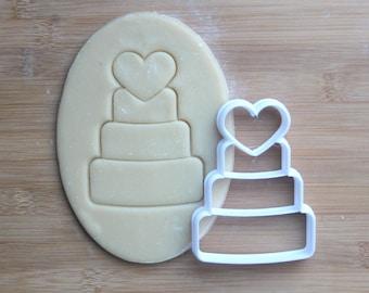 wedding cake cookie cutter 3d printed wedding cookies bridal shower cookie cutter engagement cookies wedding favors