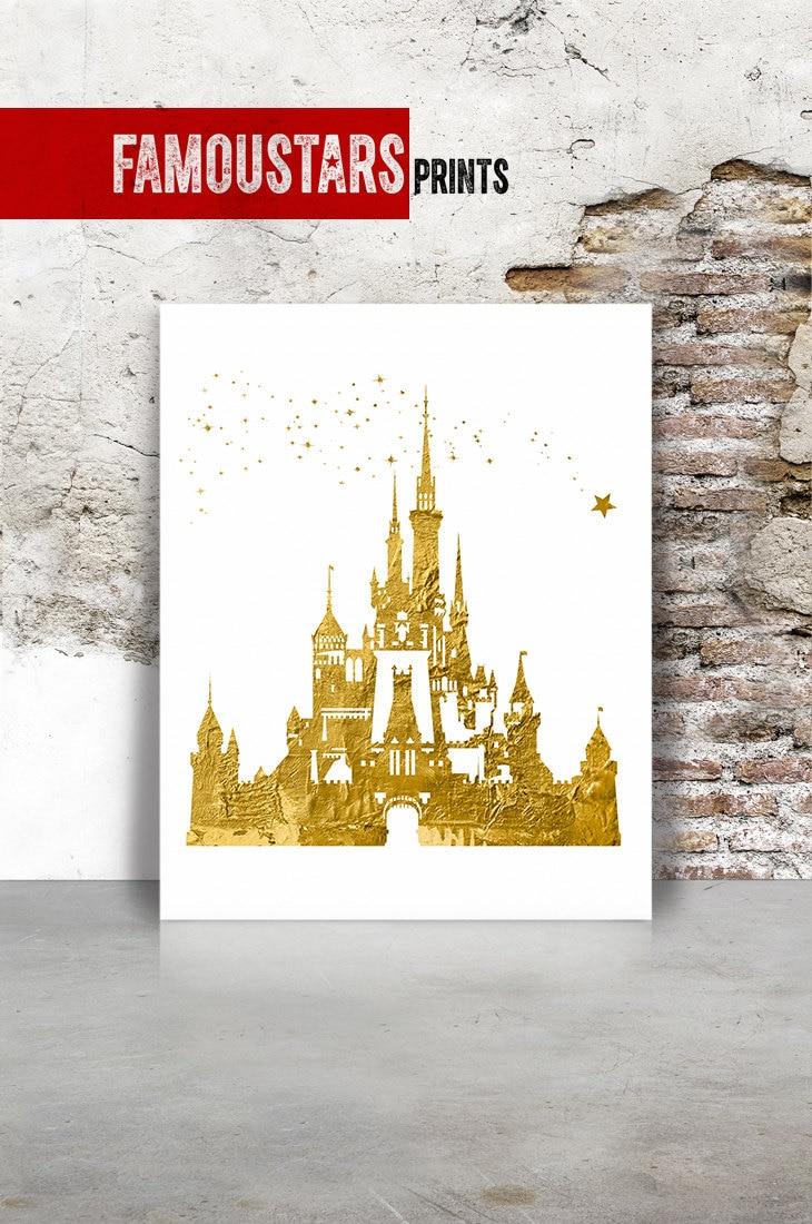 Cinderella castle print Disney castle art print princess