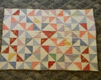 Patchwork quilt, old fashioned design.