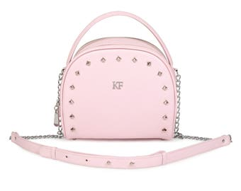 Leather Cross body Bag, Pink Leather Shoulder Bag, Women's Leather Crossbody Bag, Leather bag KF-994