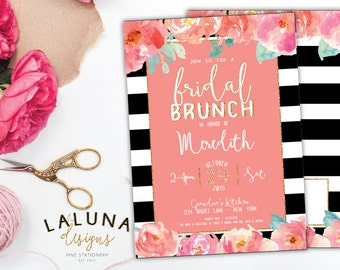 Bridal Shower Invitation, Bridal Brunch Invitation, Bridal Brunch Invites, Bridal Brunch Shower Invitation, Gold Glitter Bridal Shower