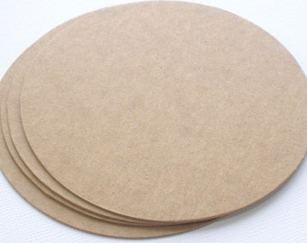 """CIRCLES -  4"""" Coasters Chipboard Die Cuts - Geometric Shapes - Bare Alterable Shapes"""