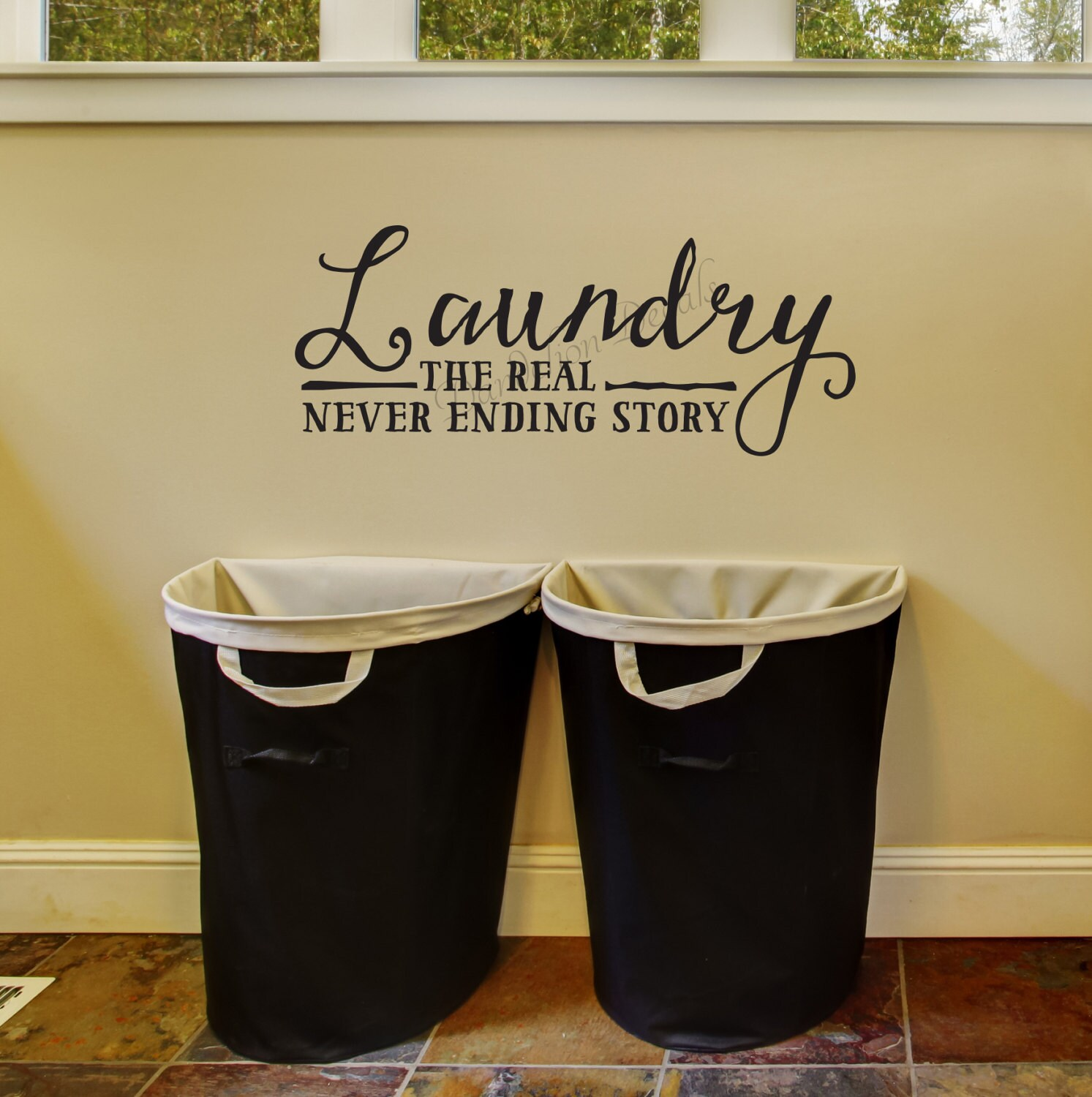 Funny Laundry Pictures Laundry The Real Never Ending Story Laundry Room Wall Decal