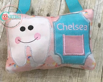 Boy - Girl Tooth Fairy Pillow - Embroidered Tooth Pillow