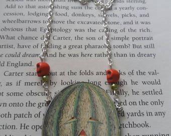Pumpkin necklace. Pumpkin jewellery. Pumpkin pendant. Skull jewellery. Horror necklace. Creepy necklace. Halloween necklace. Skull necklace.