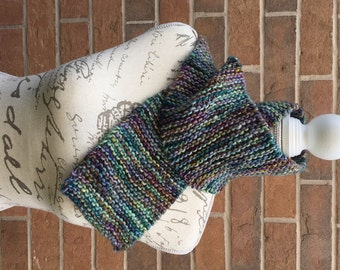 Beginner knitting kit, scarf knitting kit, DIY knitting kit, Merino wool, Malabrigo yarn, wool scarf, women's gift idea, Christmas gift idea