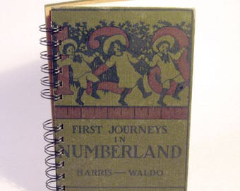 1911 NUMBERLAND Handmade Journal Vintage Upcycled Book Math Teacher Gift