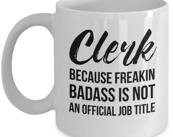 Clerk Gift, Law Clerk Gift, Personalized Clerk, Funny Clerk, Gift For Clerk, Law Clerk Mug, Lawyer student, Law School Graduate Gift, Clerk