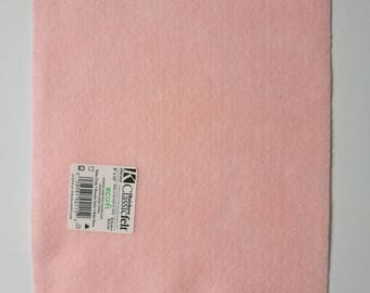 Pale pink ecofriendly felt sheet