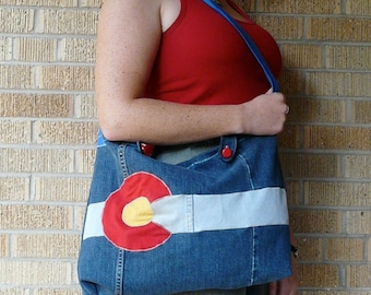 Upcycled Tote Bag - Colorado Pride!