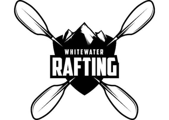 Kayak Logo 3 Kayaking Canoe Whitewater River Rafting Water