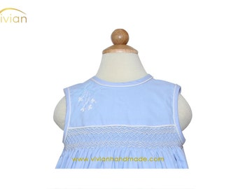 D18.37 - Hand smocked & embroidered dress