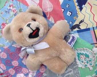 "Vintage 1980s Plush Snuggle Bear Promo Stuffed Toy Early Edition 6"" Korea Russ"