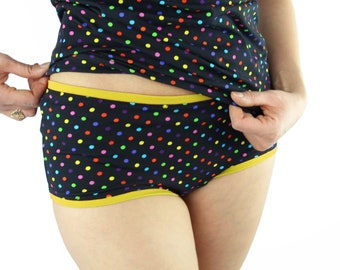 hipster underwear cotton colorful dots slip