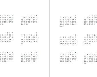 2017 Blank Calendar - A5