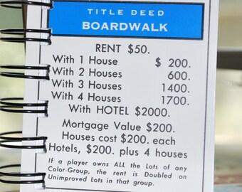 Boardwalk Monopoly Notebook
