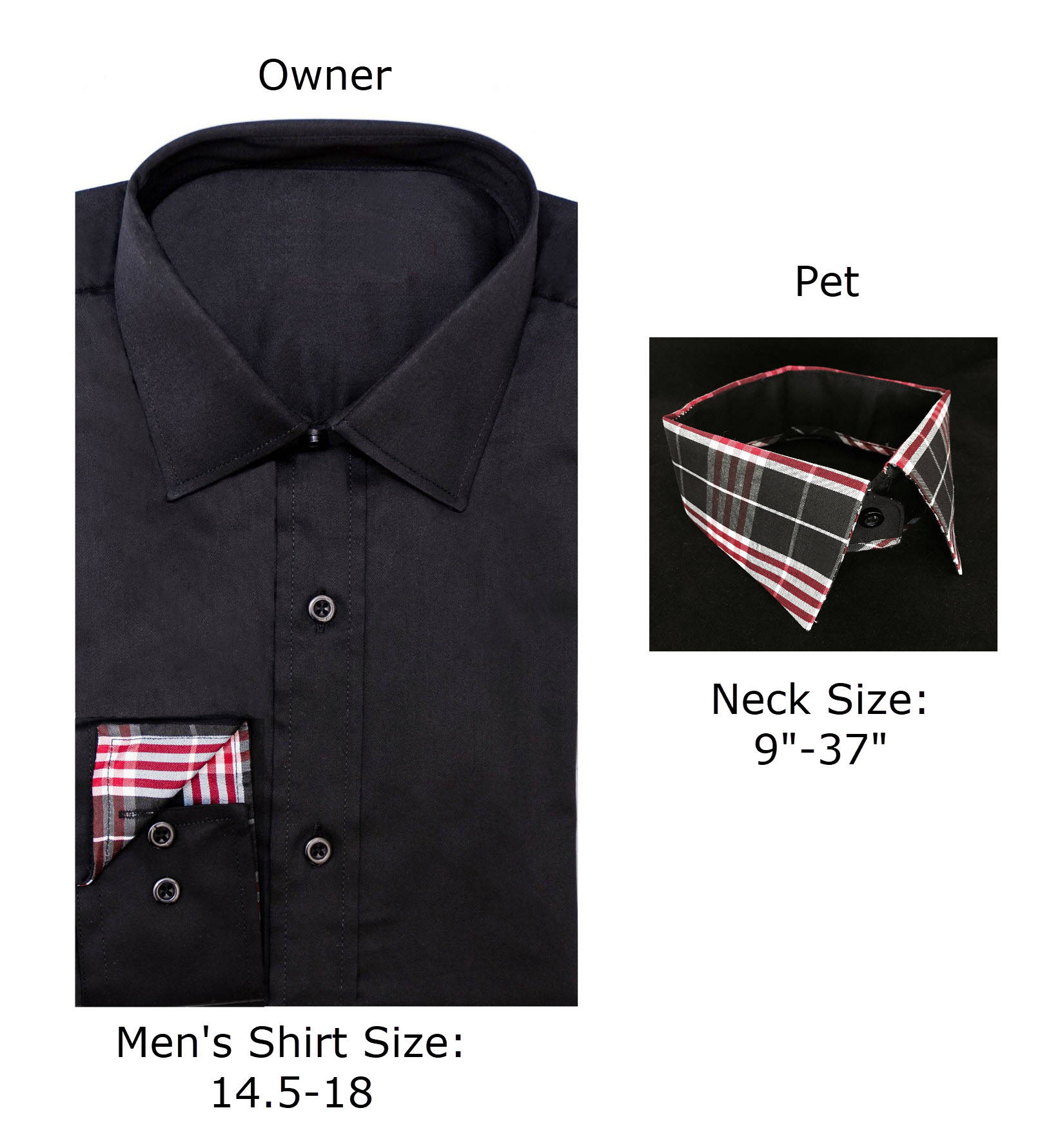 His And His Dog Matching Dress Shirt And Pet Collar Fabric