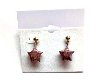 Origami star earrings