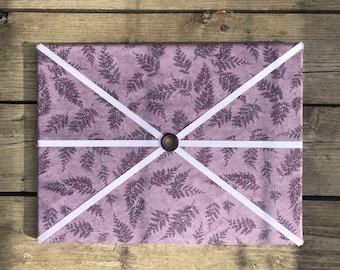 Purple Fern Fabric Board w/ Purple Ribbon (SC)