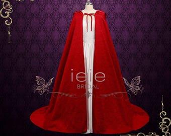 Hooded Red Cloak Cape Medieval Cloak Cape