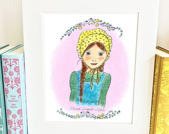 Laura Ingalls Wilder Print - Little House on the Prairie - girls room decor - HLI