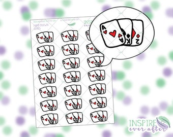 Hand Drawn Cards / Playing Cards Icon ~ Planner Stickers